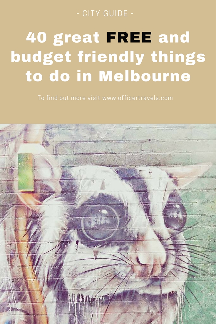 free and budget friendly tings to do in melbourne