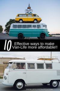 10 effective ways to make van-life more affordable. Travelling in a campervan often has people asking us how we afford it. These are our 10 tried and tested ways that we keep our costs down or bring in some pennies | Travelling in a van, campervan road trip, how to afford van life, living in a van full time | #vanlife #budgettravel #travelbudget #travelguides #campervan #travelcamping #livinginavan |