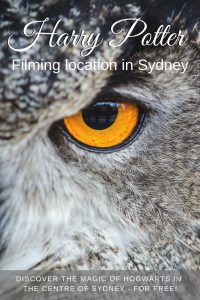 Are you looking for a Harry Potter filing location in Sydney? Did you know Sydney University is a direct look-a-like of Hogwarts? Find out how our visit went in this post, and how you can get there too! | #sydney #harrypotter #filminglocations #australia #travelfilm #sydneyuniversity #hogwarts #harrypotterfilms
