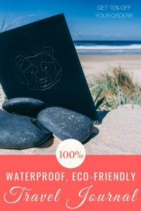 Are you looking for an eco-friendly travel journal to take with you on your adventures? Bear in mind journals are perfect for every kind of traveller! Waterproof and eco-friendly, they're in a league of their own! Find out more in our review and get 10% OFF your order | #traveljournal #eco-friendly #waterprooftraveldiary #adventurenotebook #traveldiary