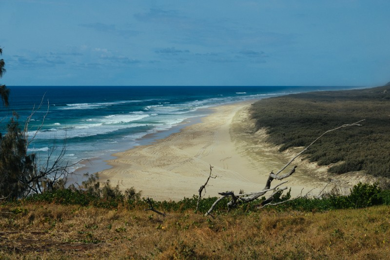 The view from Indian Head, Fraser Island north