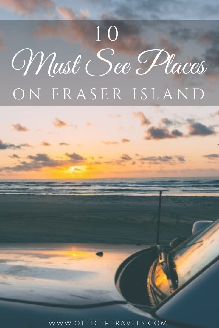 This Fraser Island itinerary will show you everythin you need to see on the Island and more. From a tropical paradise beach that you can have all to yourself, to where you can swim (safely) with turtles. This world heritage site has it all. | #roadtrip #Austrliaitinerary #eastcoastaustralia #frasercoast #thingstodo
