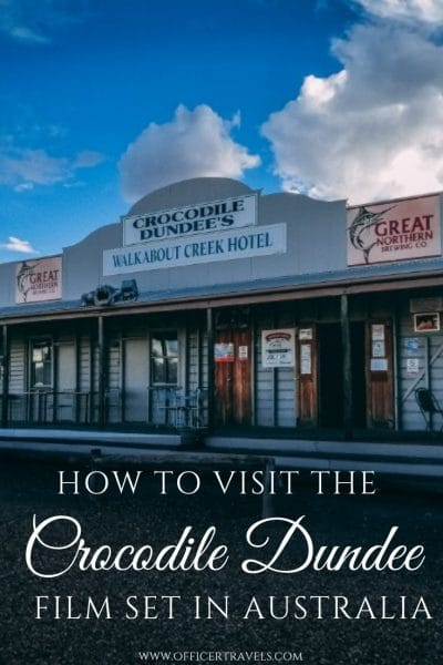 There's so many unique places to see between Cairns and Darwin, but the Crocodile Dundee film location was one of our favourites. Find out where you'll find it and what else you can get up to on your way from darwin to Cairns | #filmset #australianclassic #australia #roadtrip #outback #thingstosee #placestovisit #visitaustralia