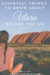 At the heart of Australia is Uluru, a monumental rock formation and one of Australia's most iconic landmark, but before you book your flights out there, here are some essential things to know about Uluru before you go! | #Uluru #northernterritory #destinationtravel #australia #redcentre #nature