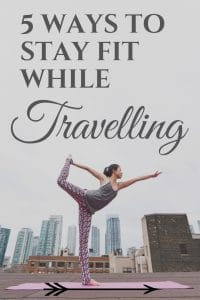 5 ways to stay fit while living in a van because we all know sometimes keeping a routine can be hard. There ways will help you break that chain and stay fit, even if you're on a budget | #travelfit #travelling #vanlife #healthytravel #stayfit #healthyliving | how to stay fit, Travel fitness routines |