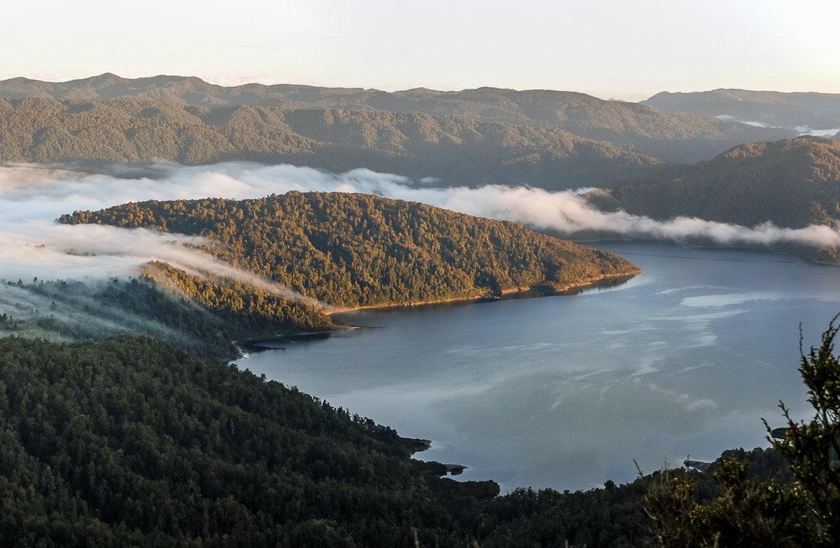 The view from one of the alternative short walks around Lake Waikaremoana