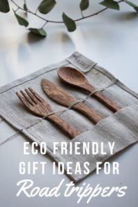 eco friendly gift ideas for road trippers. Give the road tripper in your life the gift of sustainable travel. We've put together a list of great eco friendly gift ideas to make your present shopping a little easier! | #ecofriendly #giftideas #travelguide #ecofriendlygifts #giftguide #plasticfree #sustanabletravel