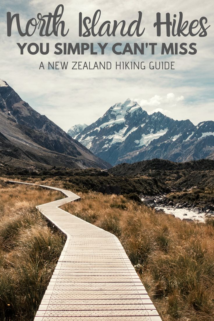 The North Island of New Zealand is full of incredible hikes. During our 5 weeks there, we aimed to do as many as possible. Here, we tell you about our favourites! | #hiking #NewZealand #NorthIsland | Things to do on the North Island, Walking Tracks in New Zealand, Where to hike in New Zealand, the best walking tracks in New Zealand |
