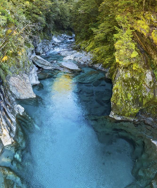 Makarora Blue Pools on Haast Pass